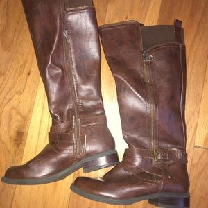 Guess long boots woman size 6 1/2m brown